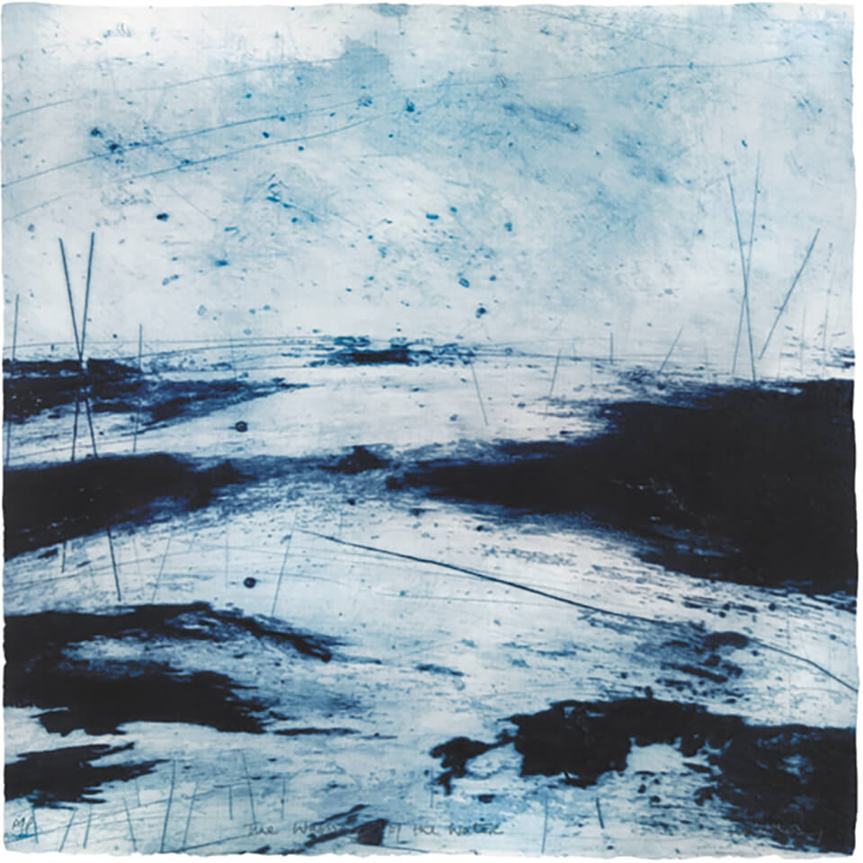Ross Loveday 'Washing Of The Water' drypoint with carborundum print